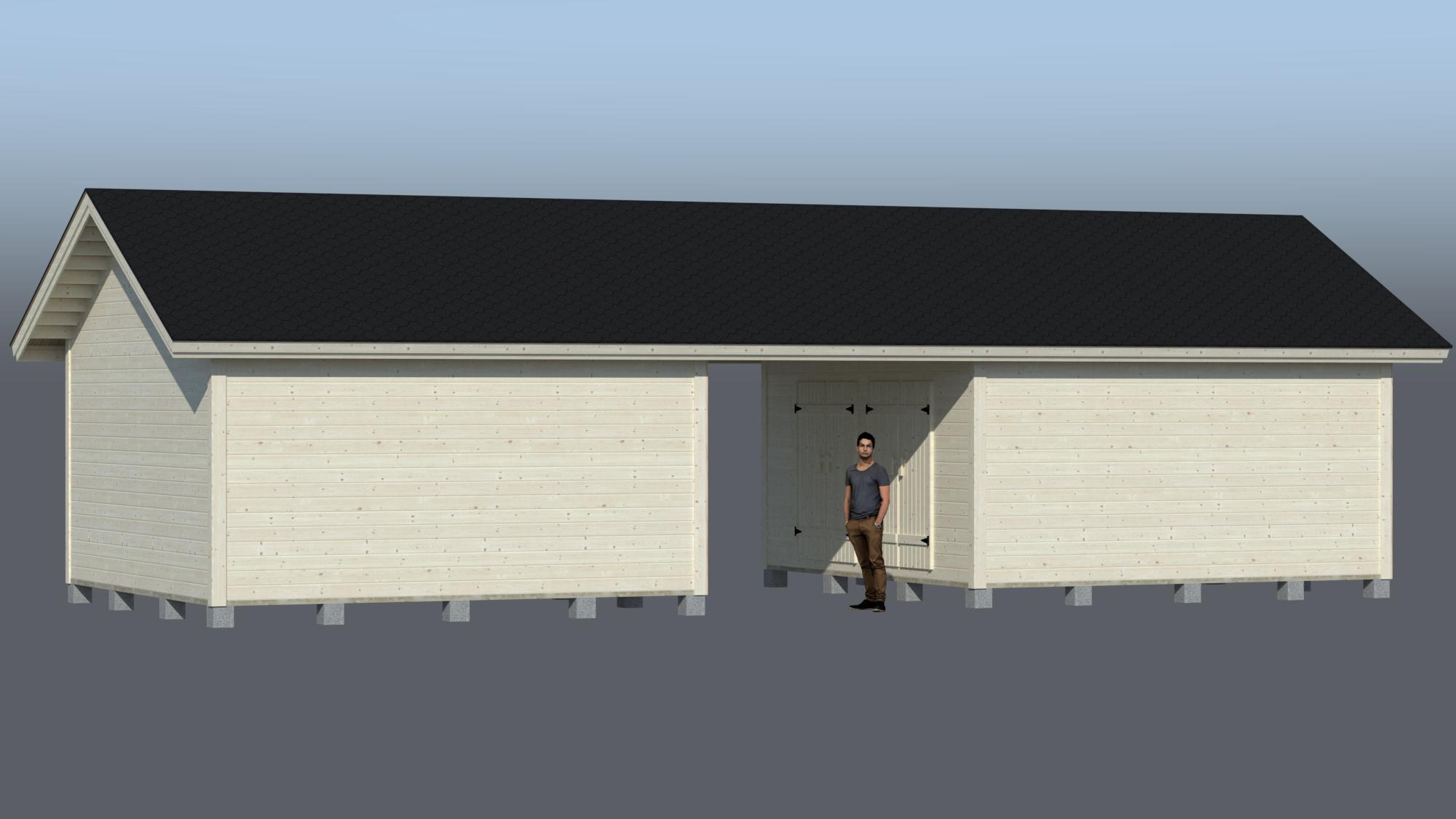 City parilato väliosalla 2x25m2 CNEK